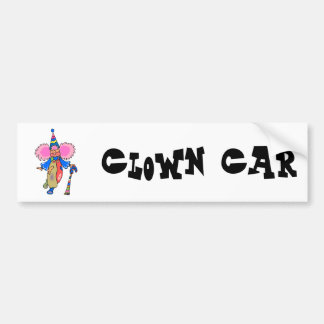 cutesy clown bumper sticker