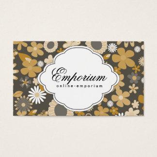 Cutesy Flower Pattern (yellow) Business Card