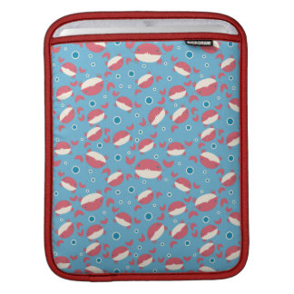 Cutesy Red Crab Pattern Sleeves For iPads