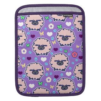 Cutesy Sheep Purpl Pattern Sleeves For iPads