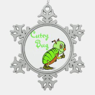 Cutey Bug Pewter Ornament