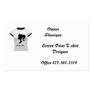 Cutey Pie Screen Print Deisgner Shirts Double-Sided Standard Business Cards (Pack Of 100)