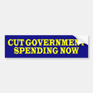 cutGovtSpendingNow Bumper Sticker