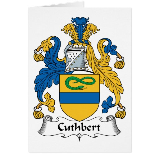 Cuthbert Family Crest Greeting Card