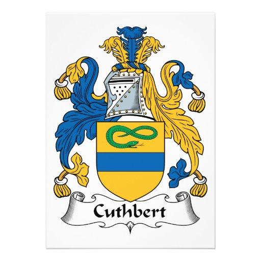 Cuthbert Family Crest Card