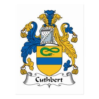Cuthbert Family Crest Postcard
