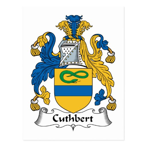 Cuthbert Family Crest Post Card