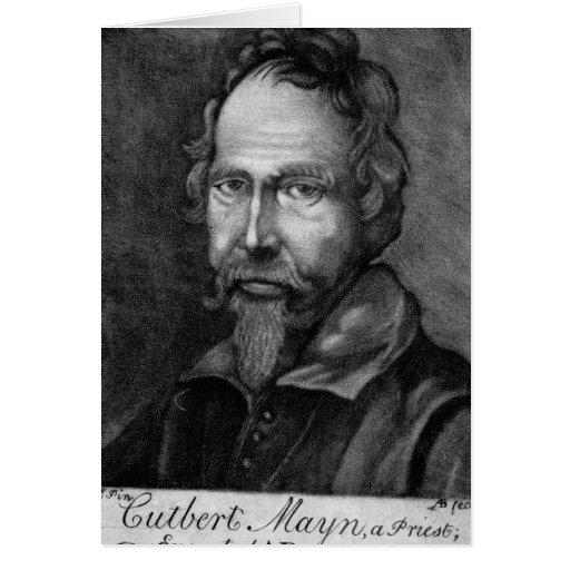 Cuthbert Mayne, 1579 Card