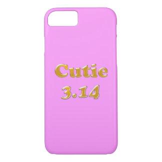 Cutie 3.14 Pi Day Pink Heart iPhone 7 Case