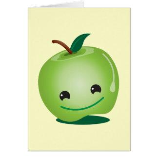 Cutie apple kawaii cute card