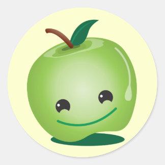 Cutie apple kawaii cute classic round sticker