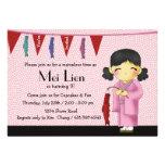 Cutie asiático - invitación de la fiesta de cumple