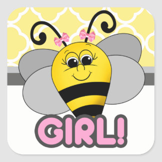 Cutie Bee Girl Sticker