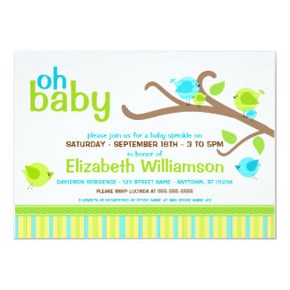 Cutie Birds Baby Sprinkle Invitations