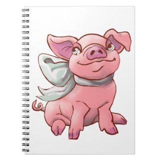 Cutie Bow Piglet Notebook