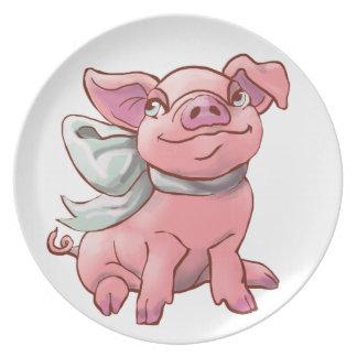 Cutie Bow Piglet Plate