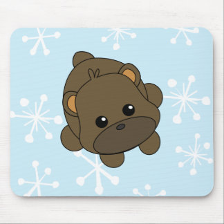 Cutie Brown Bear Mouse Pad