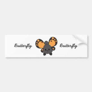 Cutie Butterfly Car Bumper Sticker