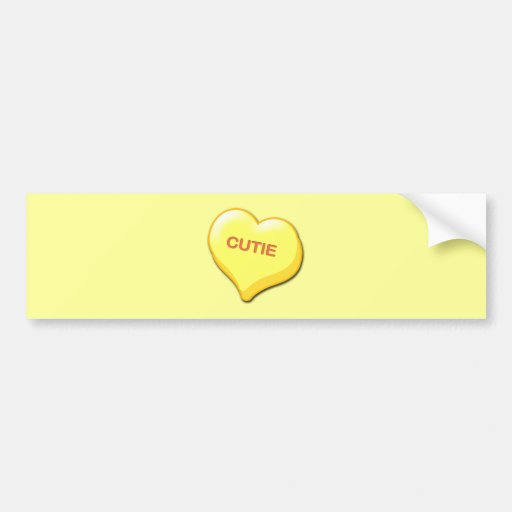 Cutie Candy Heart Bumper Sticker
