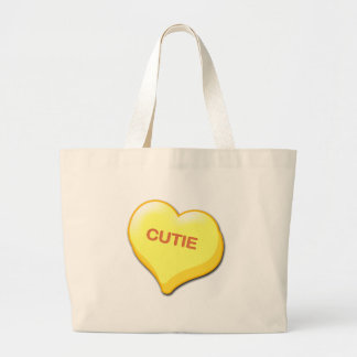 Cutie Candy Heart Large Tote Bag