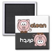 Cutie Cartoon Dishwasher Magnet