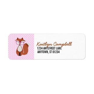 Cutie Cartoon Fox Address Labels