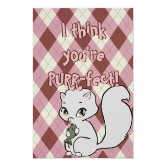 Cutie Cat Poster print