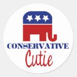 Cutie conservador etiqueta redonda