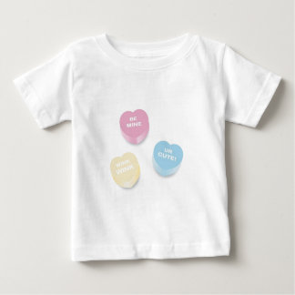 Cutie Conversation Hearts Baby T-Shirt