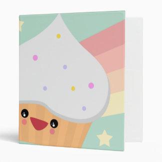 Cutie Cupcake 3 Ring Binder