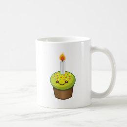 Cutie Cupcake Happy Birthday smiles Coffee Mug