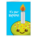 cutie Cupcake Happy Birthday smiles Greeting Card