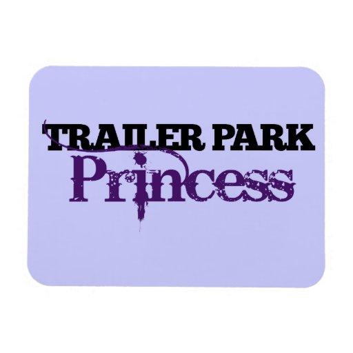 Cutie de la princesa del parque de caravanas imán de vinilo