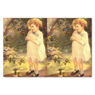 Cutie del Victorian con los pájaros Papel De Seda Pequeño