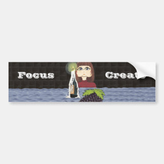 Cutie does Focus and Create Candle Work Bumper Sticker
