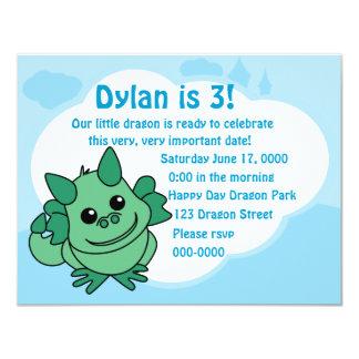 Cutie Dragon 4.25x5.5 Paper Invitation Card