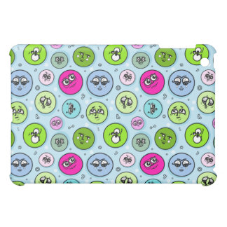 Cutie Faces Pattern iPad Mini Covers