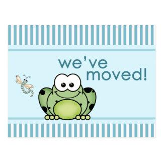 Cutie Frog New Address Postcard