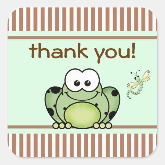 Cutie Frog Thank You Sticker