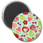 Cutie Fruities 2 Inch Round Magnet