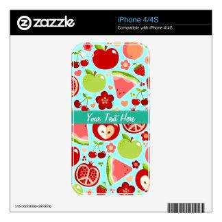Cutie Fruities iPhone 4S Decal