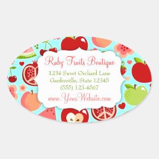 Cutie Fruities Oval Sticker