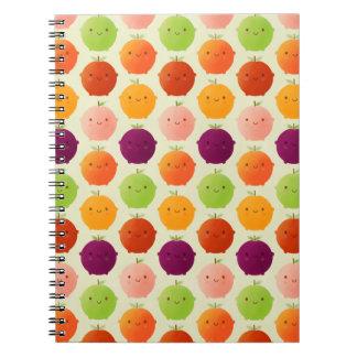 Cutie Fruity Watercolours Spiral Notebook