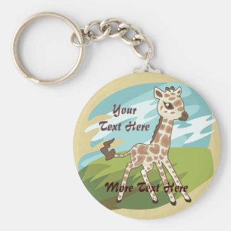 Cutie Giraffe Keychain