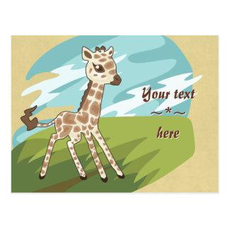 Cutie Giraffe Post Card