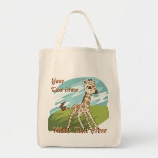 Cutie Giraffe Tote Bag