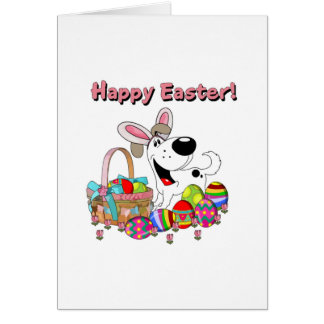 Cutie has Easter Bunny Ears Greeting Card