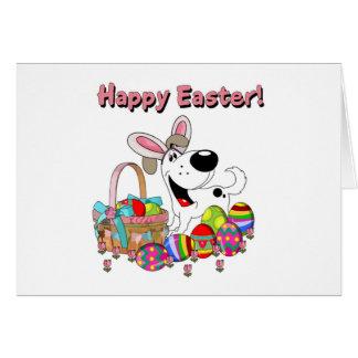 Cutie has Easter Bunny Ears Greeting Card
