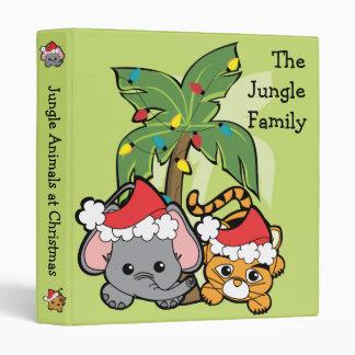 Cutie Jungle Animals at Christmas Binders