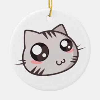 Cutie Kitty Ceramic Ornament